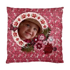 Pink Floral/girly Cushion Case (two Sides) By Mikki   Standard Cushion Case (two Sides)   K7thcnslxigr   Www Artscow Com Front