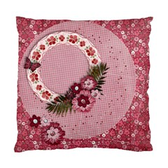 Pink Floral/girly Cushion Case (two Sides) By Mikki   Standard Cushion Case (two Sides)   K7thcnslxigr   Www Artscow Com Back