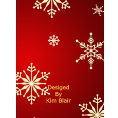 Snowflake Christmas Card 1 By Kim Blair   Greeting Card 4 5  X 6    1ti6tnww601p   Www Artscow Com Back Cover