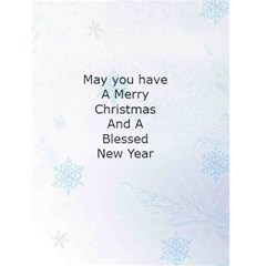 Snowflake Christmas Card 1 By Kim Blair   Greeting Card 4 5  X 6    1ti6tnww601p   Www Artscow Com Back Inside