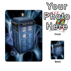 Doctor Who V2 File  By Mark Chaplin   Playing Cards 54 Designs   Lowu0r8ravv3   Www Artscow Com Back