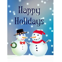 Snow Couple 1 Christmas Card By Kim Blair   Greeting Card 4 5  X 6    Sveyx2453y5e   Www Artscow Com Front Cover