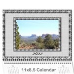 Framed in Silver 2013 Calendar (large Numbers) - Wall Calendar 11 x 8.5 (12-Months)