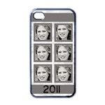 grey six frame iphone - Apple iPhone 4 Case (Black)