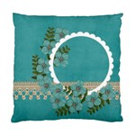 Cushion Case (Two Sides) - Blue Flowers - Standard Cushion Case (Two Sides)
