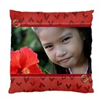 Pillow Case (Two Sides)- Red hearts - Standard Cushion Case (Two Sides)