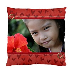 Pillow Case (two Sides)  Red Hearts By Jennyl   Standard Cushion Case (two Sides)   Oqzug1ybwuxd   Www Artscow Com Back