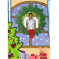 Christmas Window Christmas Card By Kim Blair   Greeting Card 5  X 7    5mmgotg9qr58   Www Artscow Com Front Cover