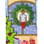 Christmas Window Christmas Card - Greeting Card 5  x 7