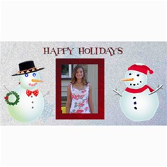Happy Holidays 4 X 8 Christmas Photo Card By Kim Blair   4  X 8  Photo Cards   Qdjd0qq4gxss   Www Artscow Com 8 x4 Photo Card - 3