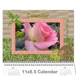 My garden 2017 (any year) Calendar - Wall Calendar 11  x 8.5  (12-Months)