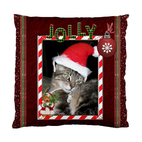 Jolly Christmas Cushion Case (1 Sided) By Lil    Standard Cushion Case (one Side)   00btmhmn46de   Www Artscow Com Front