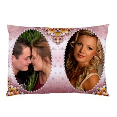 Pink Pearl Framed Pillow Case (2 Sided) By Deborah   Pillow Case (two Sides)   W3axaqfc81le   Www Artscow Com Front