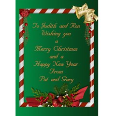 Joy Christmas Card 5x7 By Deborah   Greeting Card 5  X 7    He0aqn12ttr1   Www Artscow Com Back Inside