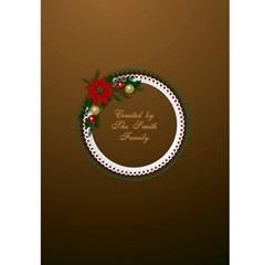Christmas Wreath Card 5x7 By Deborah   Greeting Card 5  X 7    9j21qxj0ty90   Www Artscow Com Back Cover