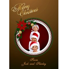 Christmas Wreath Card 5x7 By Deborah   Greeting Card 5  X 7    9j21qxj0ty90   Www Artscow Com Front Cover