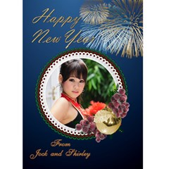 New Year Card 5x7 By Deborah   Greeting Card 5  X 7    Aj7qboj28qrf   Www Artscow Com Front Cover