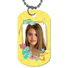 Summer Fun/beach  Dog Tag (2 Sides) By Mikki   Dog Tag (two Sides)   N4kole17lkxg   Www Artscow Com Front