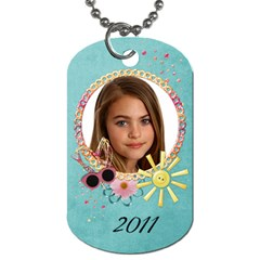 Summer Fun/beach  Dog Tag (2 Sides) By Mikki   Dog Tag (two Sides)   N4kole17lkxg   Www Artscow Com Back