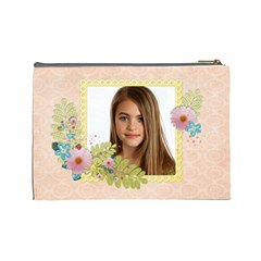 Sunshine & Flowers Cosmetic Bag (large)  By Mikki   Cosmetic Bag (large)   3cwrkr7shnf4   Www Artscow Com Back