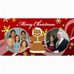 gingerbread Christmas 8x4 post card - 4  x 8  Photo Cards
