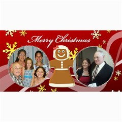 Gingerbread Christmas 8x4 Post Card By Kim Blair   4  X 8  Photo Cards   Ocenydzjmvjh   Www Artscow Com 8 x4 Photo Card - 8