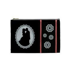 Cosmetic Bag Love/wedding By Petula   Cosmetic Bag (medium)   322rgywqir24   Www Artscow Com Front