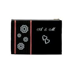 Cosmetic Bag Love/wedding By Petula   Cosmetic Bag (medium)   322rgywqir24   Www Artscow Com Back