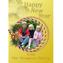 Lemon New Year 5x7 Card By Deborah   Greeting Card 5  X 7    Wehvhdeqmw6z   Www Artscow Com Front Cover