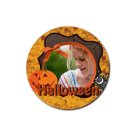 Halloween By Joely   Rubber Coaster (round)   H83cr1z6c53j   Www Artscow Com Front