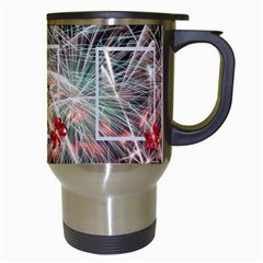 Fireworks Travel Mug By Kim Blair   Travel Mug (white)   3dc0qiblrkax   Www Artscow Com Right