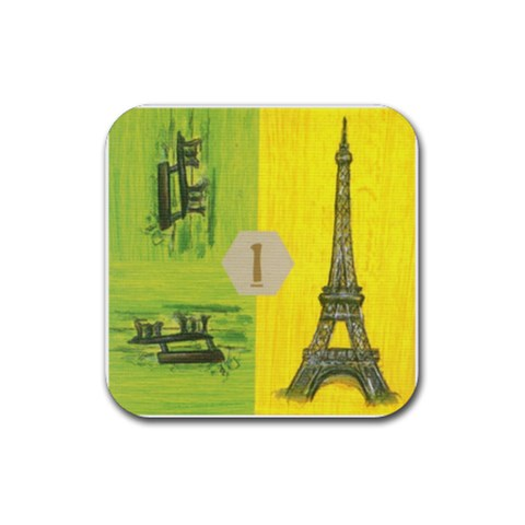 Cities By Mauricio Torselli   Rubber Coaster (square)   Jw6jhfujtahg   Www Artscow Com Front