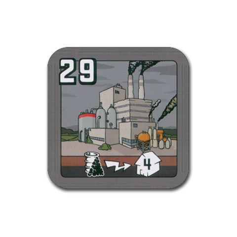 Powergrid By Mauricio Torselli   Rubber Coaster (square)   Bdatpnk9q73l   Www Artscow Com Front
