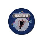 Enjoy Drink Coaster - Rubber Coaster (Round)