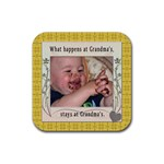 Grandma s Square Rubber Coaster - Rubber Coaster (Square)