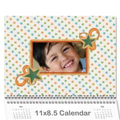 Calendar: All Stars By Jennyl   Wall Calendar 11  X 8 5  (12 Months)   5pqor6rx603y   Www Artscow Com Cover