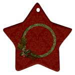 Ornament (Two Sides): Star1 - Star Ornament (Two Sides)
