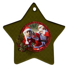 Ornament (two Sides): Star2 By Jennyl   Star Ornament (two Sides)   Hjr2a7s9hcwo   Www Artscow Com Front