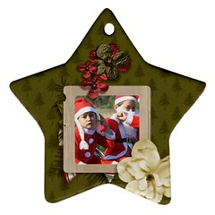 Ornament (two Sides): Star3 By Jennyl   Star Ornament (two Sides)   F35bn6wji4r3   Www Artscow Com Front