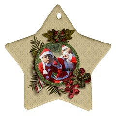 Ornament (two Sides): Star4 By Jennyl   Star Ornament (two Sides)   Msef2f06hnp6   Www Artscow Com Back
