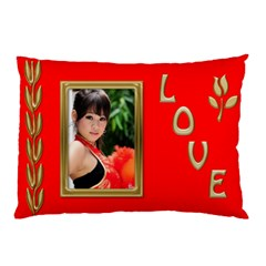 Love Gold And Red Pillow Case (2 Sided) By Deborah   Pillow Case (two Sides)   8j1z34aix3cq   Www Artscow Com Front