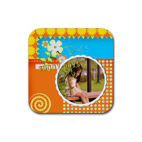 Summer Coaster By Angel   Rubber Coaster (square)   Typu2fhi2bks   Www Artscow Com Front