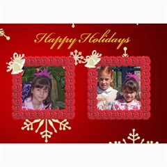 Snowflake Christmas 5x7 Photo Card By Kim Blair   5  X 7  Photo Cards   Z1bbfd92jrgb   Www Artscow Com 7 x5 Photo Card - 1