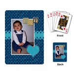 Boy Playing Cards - Playing Cards Single Design