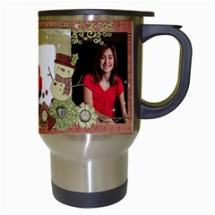 Shabby Christmas Travel Mug By Mikki   Travel Mug (white)   3iqcu3qrdwrp   Www Artscow Com Right