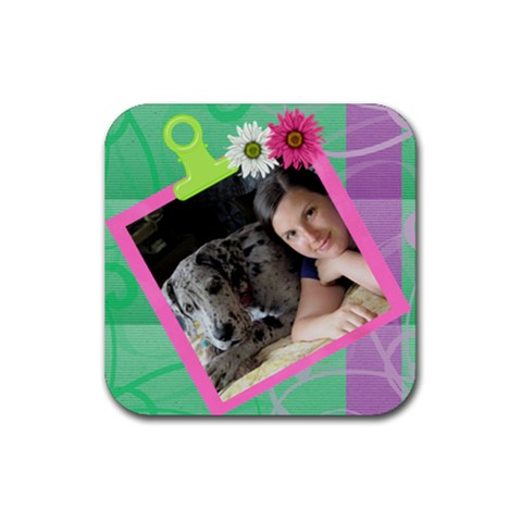 On Display Square Coaster By Deborah   Rubber Coaster (square)   Sk2h3v96r6l7   Www Artscow Com Front