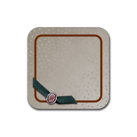 Coaster Silver By Shelly   Rubber Coaster (square)   A4sb9w3p7heq   Www Artscow Com Front
