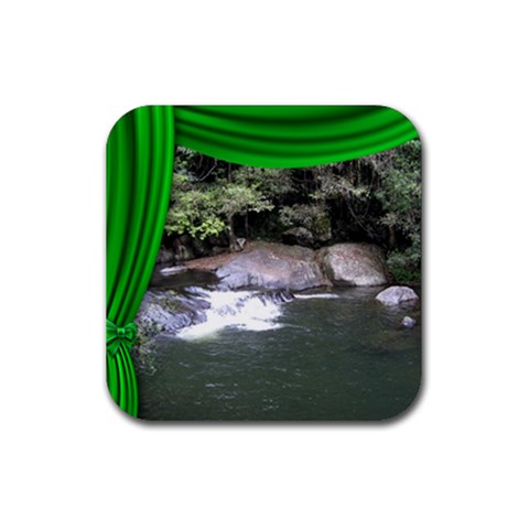 Dance,drama,vacation Coaster Green By Deborah   Rubber Coaster (square)   Ekkymkflylup   Www Artscow Com Front