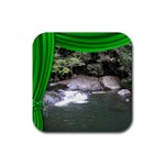 Dance,Drama,Vacation coaster Green - Rubber Coaster (Square)