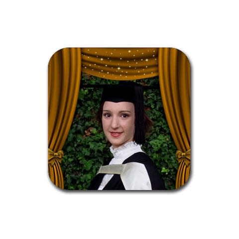 Dance,drama,vacation Coaster Gold By Deborah   Rubber Coaster (square)   151jrlgay3ux   Www Artscow Com Front